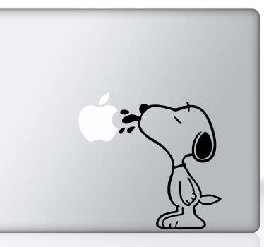 Sticker mac apple Snoopy