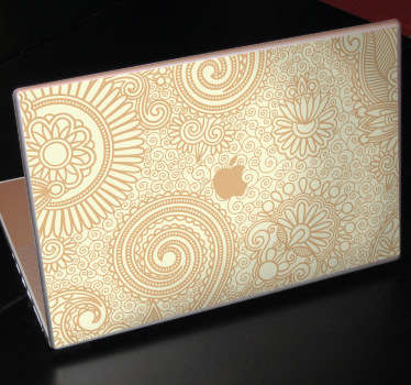 Naklejka dekoracyjna na laptop tekstura kwiaty