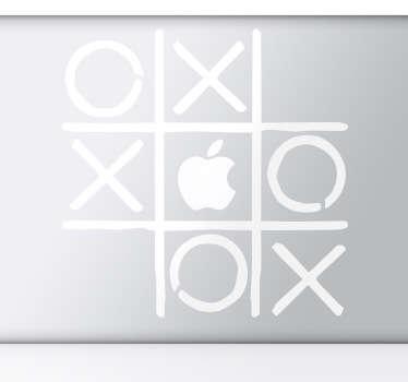 Noughts & Crosses MacBook Sticker