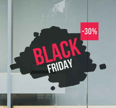 Decorate your business space for black Friday sales with our decorative sales decal.  The design is a black textured background with text .