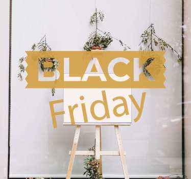 autocolante de produtosimples e original para vendas de sexta-feira negra. Coloque este adorável vinil autocolante decorativo preto com inscrição de sexta-feira na janela, porta, vitrine de vidro etc.