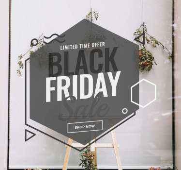 Einfacher, aber eleganter schwarzer freitag-verkaufsaufkleber zur dekoration ihres geschäftsbereichs. Es ist original, einfach anzuwenden und in jeder gewünschten Größe erhältlich.