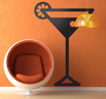 A cocktail wall sticker for those who love a mojito or piña colada at the weekend! The cocktail decal can be used to decorate a bar or your own home.