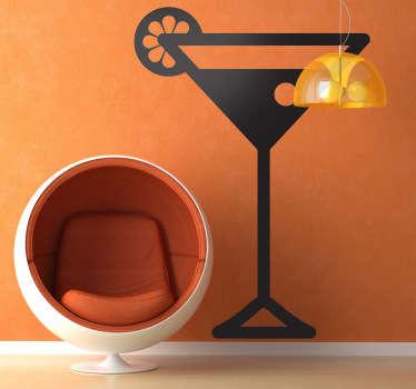 Cocktail drikke vegg klistremerke