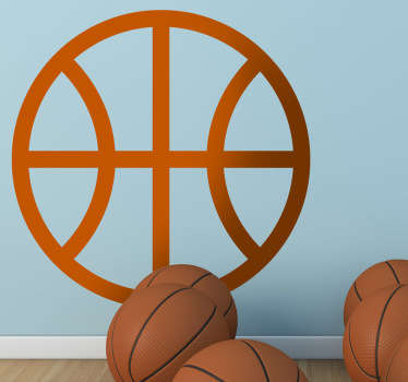 Decorative decal of a basketball icon! A well known symbol that represents basketball.