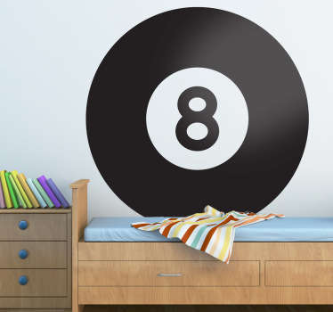 Pool Blackball Sticker