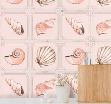 カラフルな質感のさまざまな種類の貝殻を含む素晴らしい貝殻タイルデカールで、さまざまな方法とスタイルで空間を変えましょう。