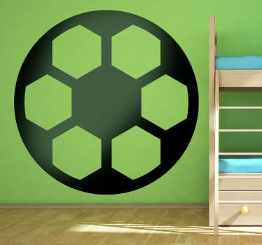 Sports Stickers - Icon illustration of a football. Available in various sizes and in 50 colours.