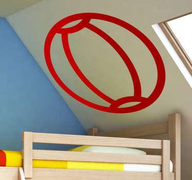 Sticker icône ballon plage