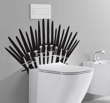 An original decal for your bathroom inspired in the HBO series, Game of Thrones! Perfect for true fans of this brilliant series.