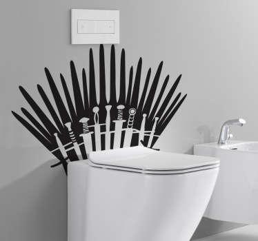 Vinilo decorativo lavabo juego tronos