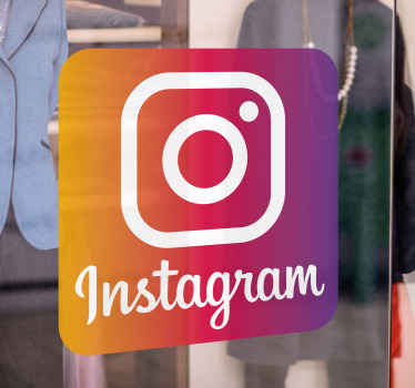 Iconic Instagram logo sticker for business. The design is suitable to be placed on a window, entrance door and other surfaces on a business place.