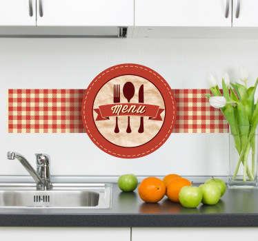 Sticker décoratif menu rétro