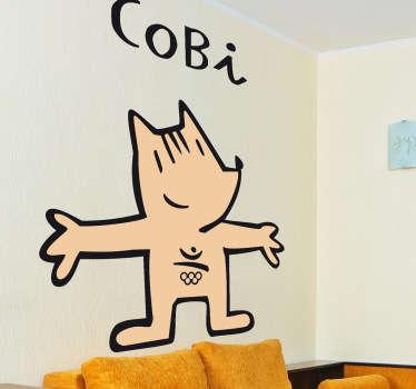 Adhesivo de la extraña y entrañable mascota diseñada por Javier Mariscal para las mejores olimpiadas de la historia.