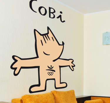 Vinilo decorativo Cobi Barcelona 92