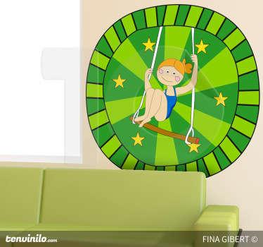 Sticker kinderkamer circus schommel sterren