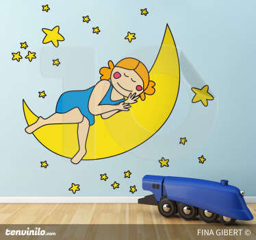 Kids Bruna On The Moon Wall Sticker