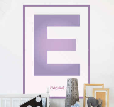 Customized alphabet decal to decorate your home with the initial of your name.  It is self adhesive and made of high quality vinyl.