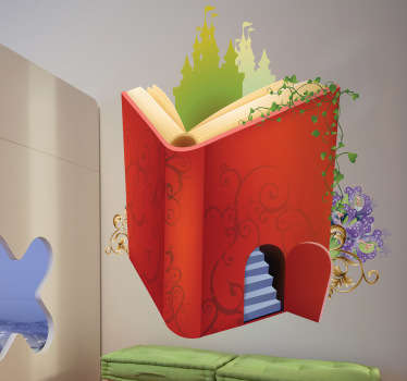 Magiska boken barn klistermärke