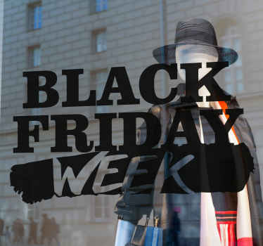 """For Black Friday sales thid design of the text wall decal is inscribed with the text """"Black Friday in white and red color.""""  Home delivery !"""