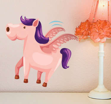 Flying Pony Wall Sticker