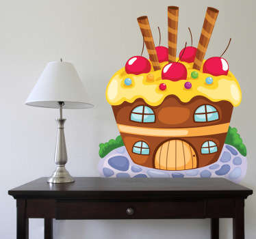 Sticker enfant maison de sucreries