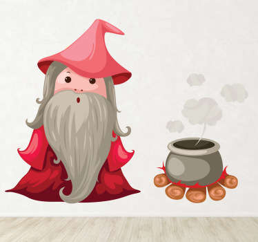 Wizard & Cauldron Kids Sticker