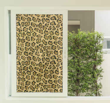 Decorate you door space or window with this lovely leopard geometric glass sticker. You would love your bathroom shower space, door or window.