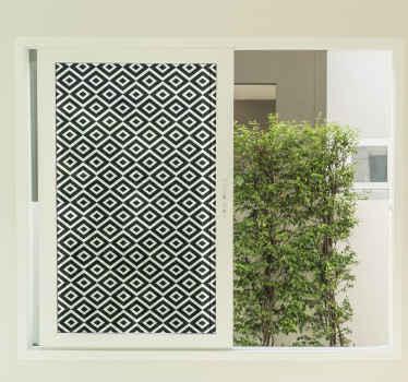 Vinilo para ventanas con un diseño original en cuadrados blanco y negro para que decores tu casa a tu manera ¡Envío exprés!