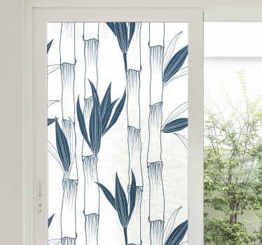 Vinilo para ventanas con plantas de bambú para decorar tu cocina o dormitorio. Fácil de aplicar y de calidad ¡Medidas personalizables!