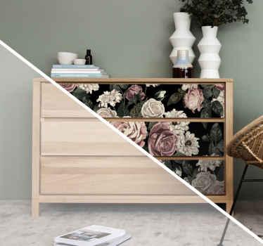 Deze mooie rozen sticker heeft mooie roze en witte rozen met een stoere zwarte achtergrond. Bestel nu uw eigen set rozen in onze webshop!