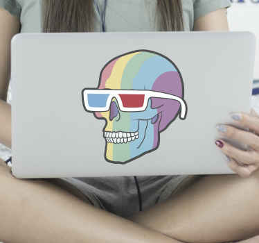 A colorful skull laptop skin sticker with different colors to make your laptop look original and cool. Give your laptop the best look!