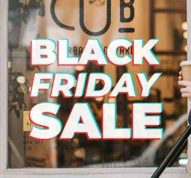 Een geweldige black friday sale sticker om uw etalage aantrekkelijker te maken in vergelijking met de anderen en om op deze dag grote verkopen te genereren.