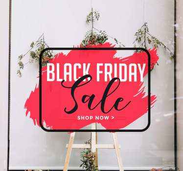 Een originele rode black friday raamsticker voor uw etalage op black friday. Iedereen zal er door aangetrokken worden!