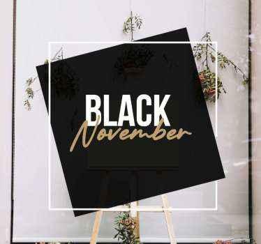 Ein atemberaubender schwarzer freitag-aufkleber für jedes schaufenster, um kunden anzulocken! Wählen Sie Ihre Größe und machen sie sich bereit, um mit dem verkauf zu beginnen.