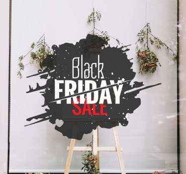 Wees klaar voor zwarte vrijdag met deze geweldige vinyl raamsticker perfect voor in u winkel! Gemakkelijk aan te brengen en zo eenvoudig te verwijderen.
