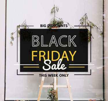 Deze black friday sticker zal iedereen waarschuwen voor de geweldige verkopen die u hebt! Met +10. 000 tevreden klanten kunt u op ons vertrouwen.