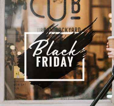 Decoratieve zwarte vrijdag verkoop zelfklevende sticker voor raam, glazen deur en glazen vitrine ruimte. Het is gemakkelijk aan te brengen en verkrijgbaar in elke gewenste afmeting.