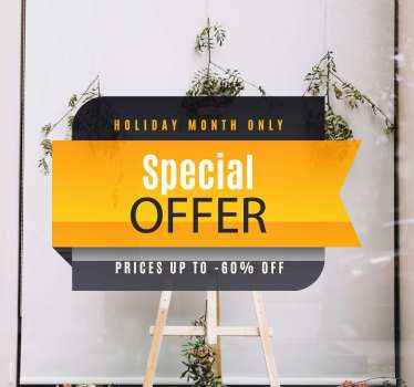 Beautiful yellow and black stylish background sticker for black Friday special sales promotion. Easy to apply, adhesive and available in any size.