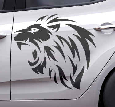 Just decorate this tribal lion art sticker depicting courage, fierce and power on your car window and love every bit of it outstanding appearance.