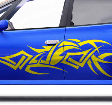 Looking for something abstract but fascination to decorate your car? Then our  original  tribal art decal for vehicles got you covered.