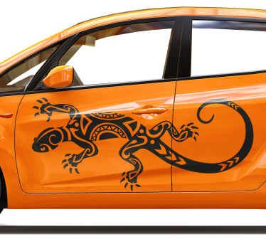 Do you love lizards or reptiles generally? if you do then you can decorate your car window or door space with this tribal lizard sticker for vehicles.