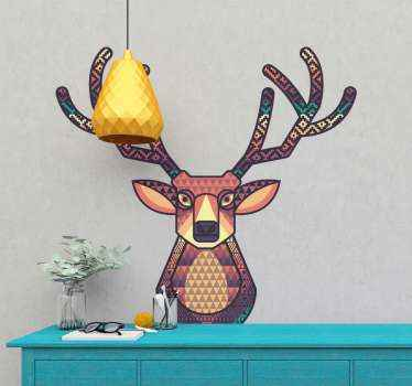 Reindeer design for charismas decoration.  A design that would create happy energy and fun vibes for Christmas in a home. Easy to apply and original.