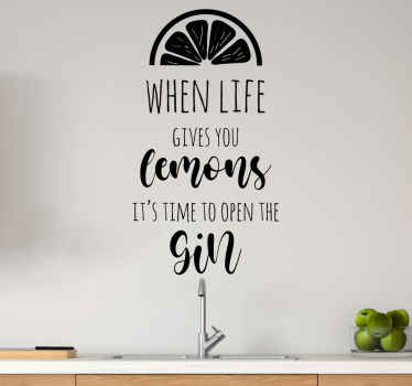 When life gives you lemons quote drink sticker. A popular saying that people often say, you would love it and the colour is customizable.