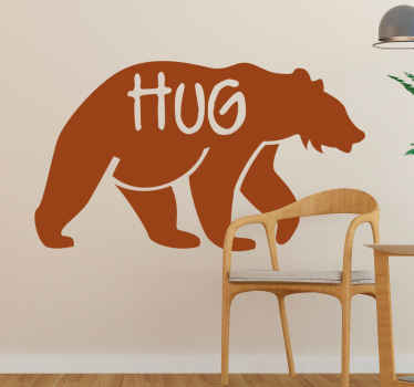 The perfect way to make your kids happy and to feel wonderful with this personalized bear sticker of high quality vinyl.