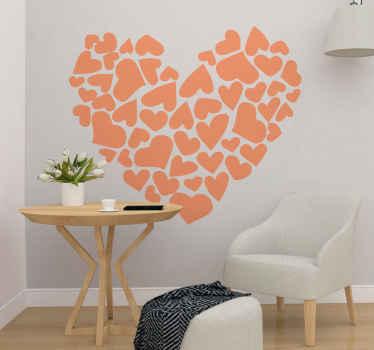 Fantástico vinilo de corazones con corazones en el interior para llenar tu casa de amor. Elige medidas y tamaño ¡Descuentos disponibles!