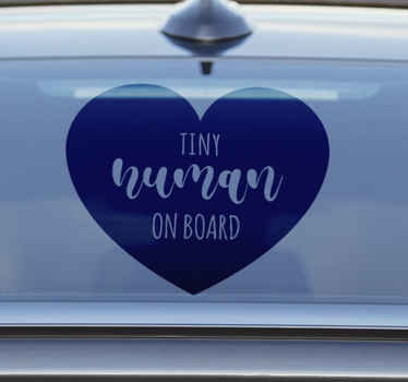 Everyone should know that your baby is on board on your car with this heart baby on board sticker. The design is beautiful and of high quality.