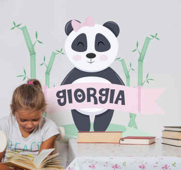 Yes! this baby panda with customized name is for a girl. Why not provide the name of your princess on the text field to get this design customize it.