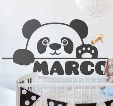 Personalize name  corgi dog sticker for children. The design illustrates a dog watching ahead from a barrier. It is easy to apply and of high quality.