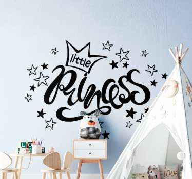 Looking for kids princess decal to turn your child's boring  room space to an interesting one?  our princess crown with stars decal got you covered.
